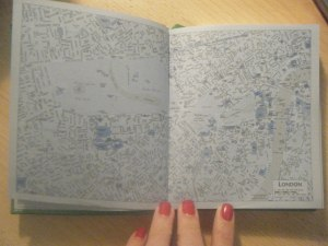 the london map in our fashion diary