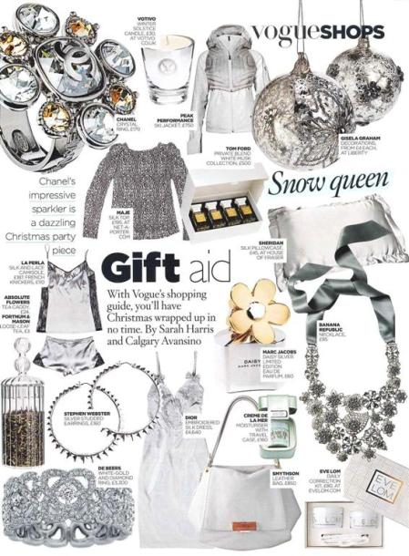 The new White Erica in Vogue's Christmas Gift Guide
